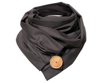 Scarf in wool - Classic Brown