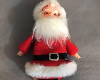 """Vintage Cardinal Toys Sitting Plush 7"""" Santa Claus"""