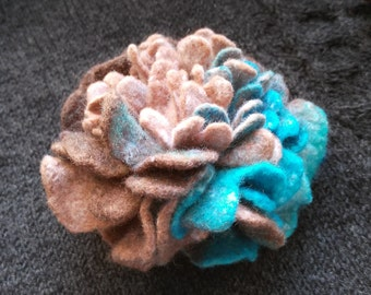 Brooch blue flower felting for women original gift stylish accessory end image street fashion clothes decoration color on the coat end dress