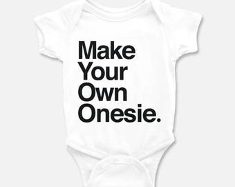 Custom baby onesie etsy custom baby onesie personalized onesie make your own custom baby bodysuit baby shower negle Gallery