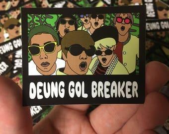 Spinebreaker Vinyl Sticker - 방탄소년단 BTS Bangtan Boys 등골브레이커 Deung Gol Breaker
