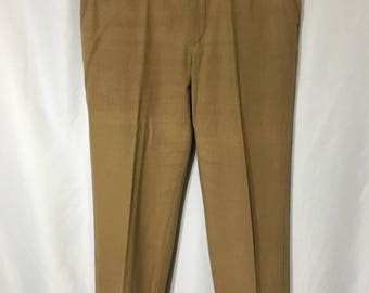 80's Men's 32x29 Tan John Henry Wool Slacks