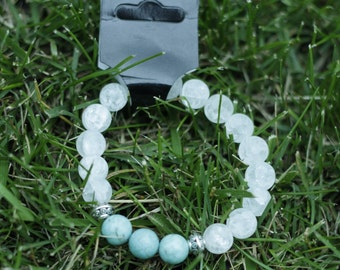Crystal quartz and turquoise