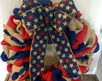 American Flag Wreath, Patriotic Wreath