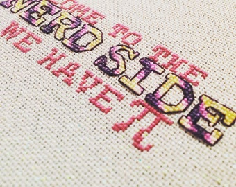 Nerd Side Cross Stitch Chart