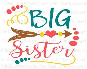 Big Sister SVG Clipart Cut Files Silhouette Cameo Svg for Cricut and Vinyl File cutting Digital cuts file DXF Png Pdf Eps