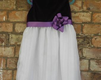 Purple Velvet Girl's Dress