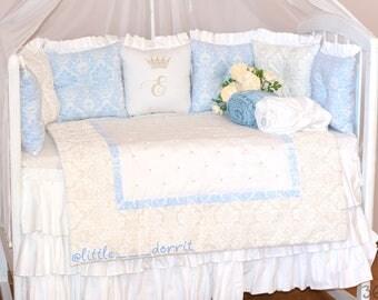 Cot Bedding Set for Baby: Royal Damask