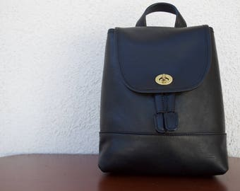 Vintage Coach Black Backpack 9960 Small / Medium Rucksack in Near-Perfect Condition / EUC