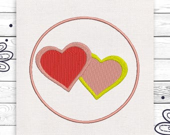 Hearts embroidery Discount 10% Machine embroidery design 4 sizes INSTANT DOWNLOAD EE5119