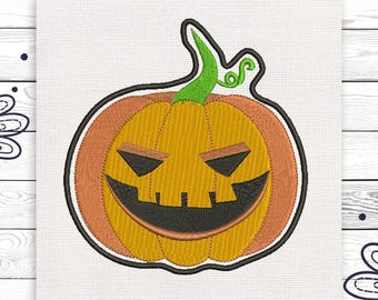 Evil pumpkin Machine embroidery design 4 sizes INSTANT DOWNLOAD EE5128