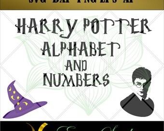 Harry potter svg, Studio font,Letter svg, Numbers svg, files for cricut,svg files,Cricut Downloads, Digital Download, Instant Download