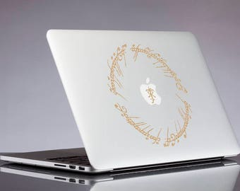 Lord of the rings decal; Elvish Circle glitter sticker for laptop, macbook, car, notebook, tablet, phone, mac