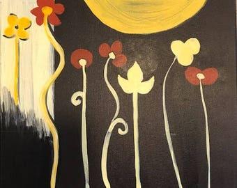Modern Flowers by Moonlight