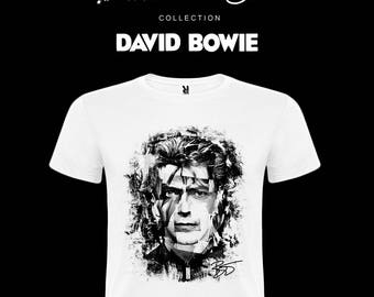 David BOWIE-Rock & Roll Stars Collection-Tshirt t-shirt Size-S-M-L-XXL Ziggy Stardust 70s 80s Punk Rock Dance heroes Space Oddity KHQ