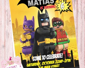 The lego Batman Movie Invitation!