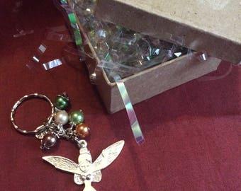 Fairy beaded key ring , bag charm