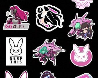 Overwatch D.va Stickers