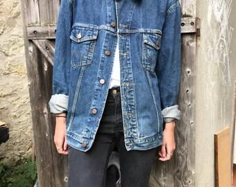 JACKET jeans WRANGLER Western Vintage 80's / 90's