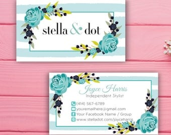Stella and Dot Business Card, Custom Stella and Dot Business Card, Custom Stella and Dot, Printable Business Card SL01