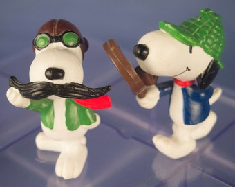Vintage Snoopy Fun Figures (Set of 2) by Determined