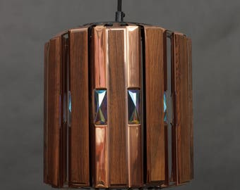 Copper & Rosewood Lamp by Werner Schou for Coronell