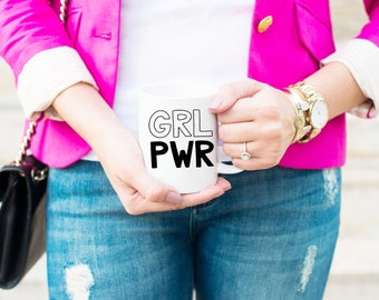 GRL PWR | grl pwr Mug | Girl Power | Girl Power Mug | Feminist Mug | Woman Power Mug | Feminist Coffee Mug | Girl Power Coffee Mug | Oprah