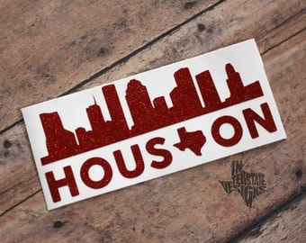 Houston Skyline Decal