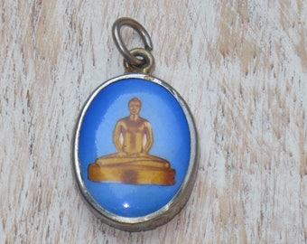 Rare Sitting Buddha Charm, Sitting Buddha Pendant, Buddha Charm, Yoga Charm