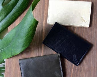 Leather bifold Wallet. Bifold Leather Card Case. Leather fold Wallet. Leather Fold Wallet. Leather business card holder.