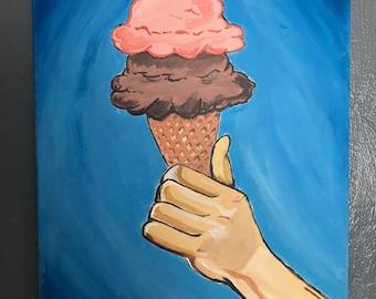 """Ice cream """"I Scream"""" original painting"""