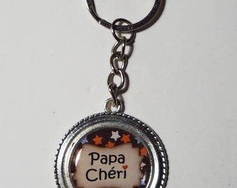 "Key ring fathers day Daddy ""Baby daddy"" birthday/gift"