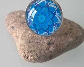 Ring adjustable blue 20mm tray