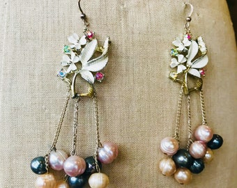 Hand made, one-off Vintage earrings