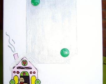 Visual presentation of Christmas Menu reusable ginger bread
