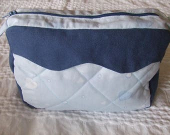 Scalloped baby toiletry case