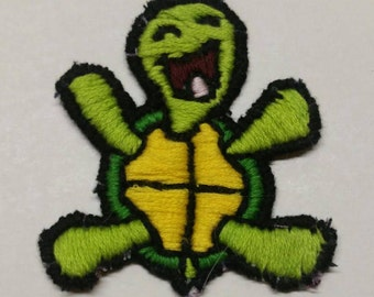 Handmade Embroidered Turtle Patch