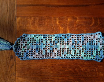 "Pretty bookmark ""Butterfly"" crocheted"