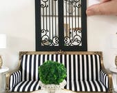 Miniature arched mirror - black french ornate mirror - Dollhouse - Diorama - Roombox - 1:12 scale