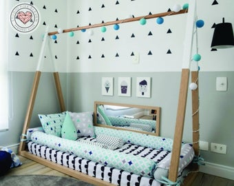 tent bed montessori style kids nursery bed scandinavia bedroom