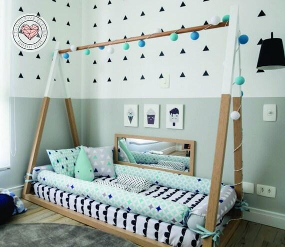 Tent Bed Montessori Style Kids Nursery Bed Scandinavia