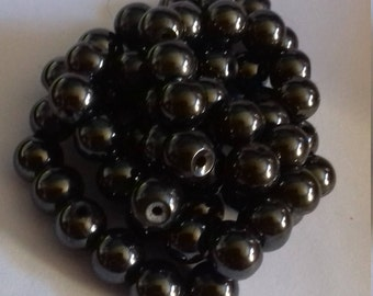 Lot of 62 hematite magnetic 10mm beads