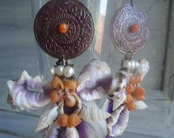 SALE 15% Code NEW10Boucles on Bohemian chic earrings, dangle earrings, Carnelian earrings
