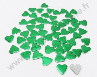 Fusible heart - Pine Green - 8mm - x 50pcs