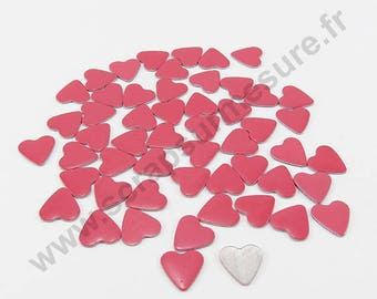 Thermo - pink - 6mm - x 75pcs heart