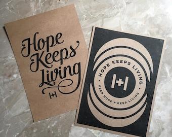 Hope Keeps Living Prints (set of 2)