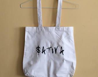 Sativa cotton tote bag