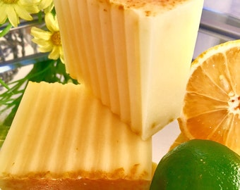 Key Lime and Lemon Goat's Milk Soap/Handmade/Essential Oils/Soap bars