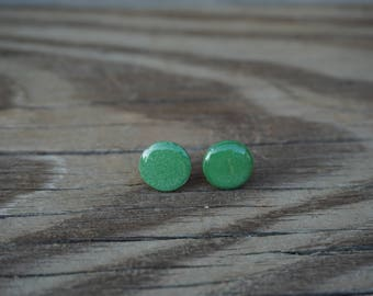 Olive Polymer Clay Earrings