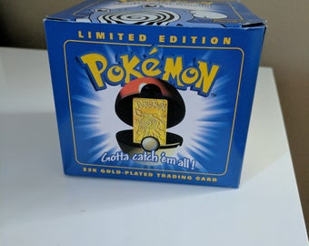 Limited Edition 23k Gold-Plated Pokemon Trading Card- Poliwhirl